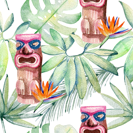 Tropical watercolor illustration Stock Illustration - 103745682