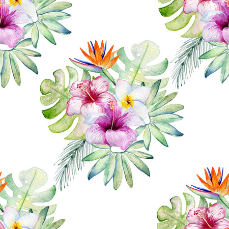 Tropical seamless pattern Stock Photo - 103745696