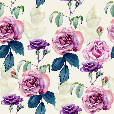 watercolor bouquet of roses