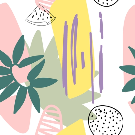 floral abstract pattern.