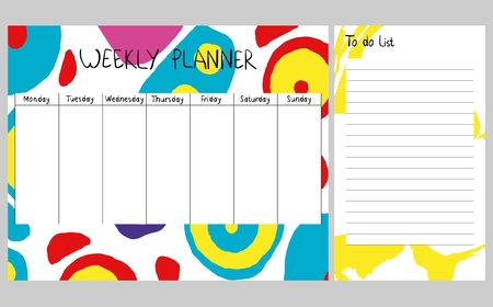 Abstract weekly planner Illustration