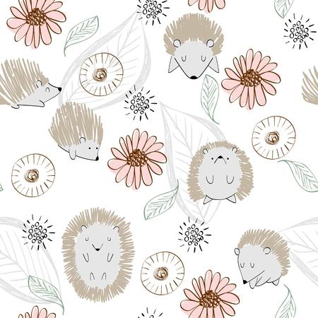 seamless cute hedgehog Imagens - 114538373