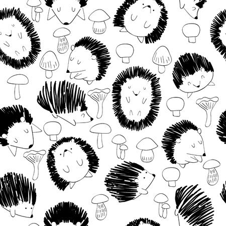seamless cute hedgehog Reklamní fotografie - 114538374