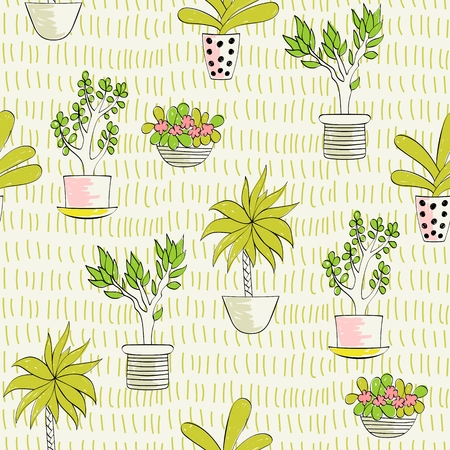 seamless pattern with plants 写真素材 - 114538402