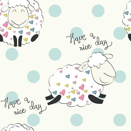 Cute funny sheeps.