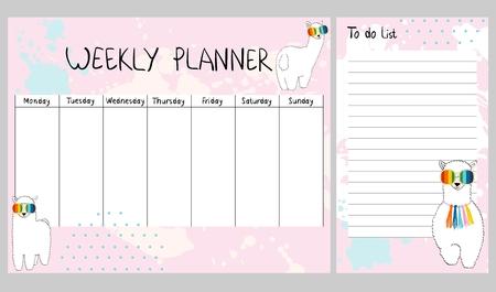 Vector weekly planner