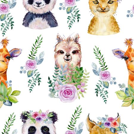 Ilustración acuarela de animales
