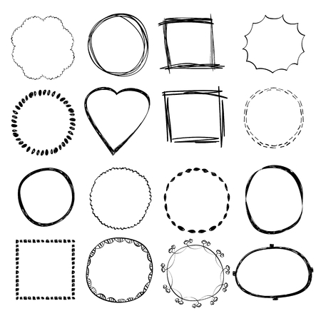 Handgezeichnete Rahmen