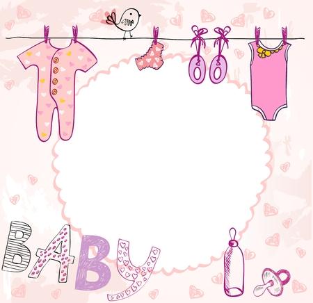 Vector baby shower. Stock Illustratie