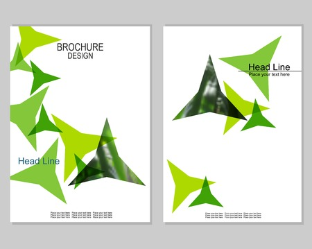 Vector brochure cover templates with blurred plants. Business brochure cover design. EPS 10. Mesh background. Ilustracja