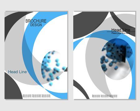 brochure cover design Archivio Fotografico - 129247661