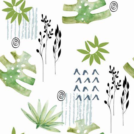 Watercolor seamless pattern. Archivio Fotografico - 127735768