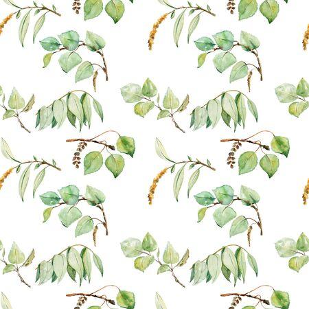 watercolor seamless pattern Zdjęcie Seryjne