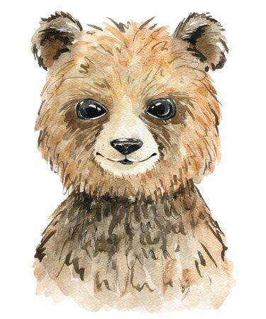 Watercolor cute bear. Zdjęcie Seryjne