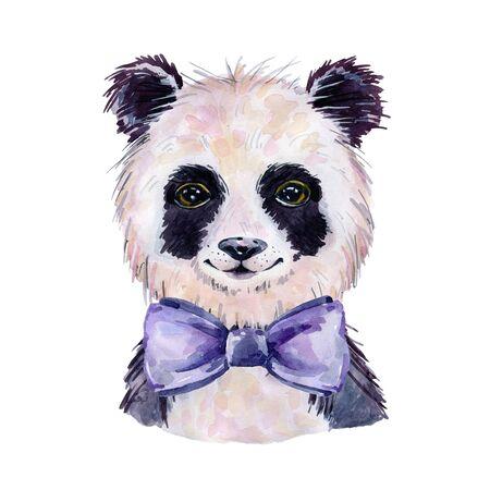Panda watercolor illustration
