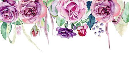 Arrangements with roses. Banque d'images - 130788058