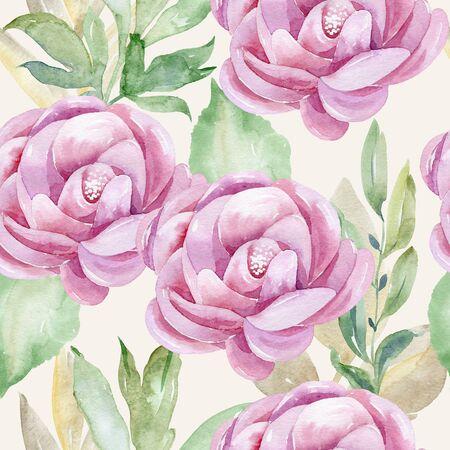 watercolor seamless pattern Reklamní fotografie