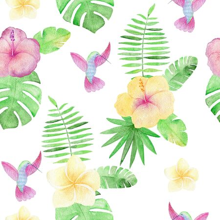 Tropical seamless pattern Stock fotó