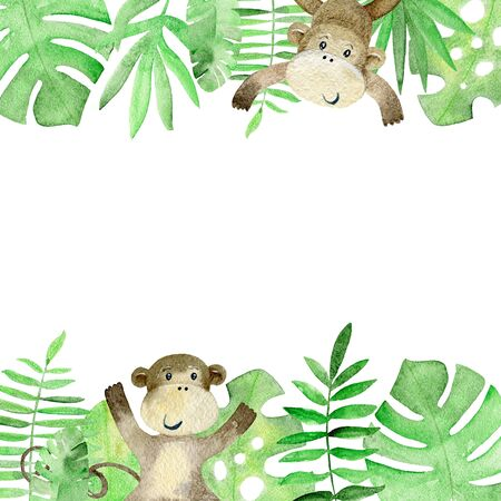 Watercolor safari card.