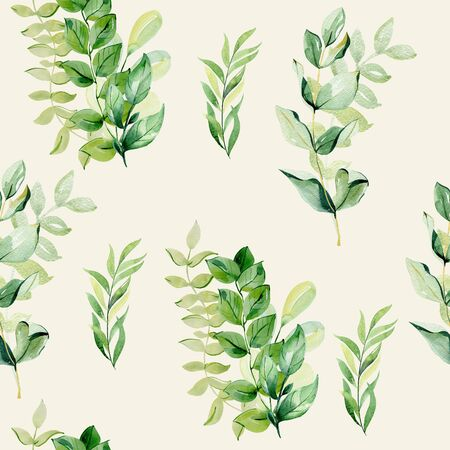 watercolor seamless pattern 版權商用圖片