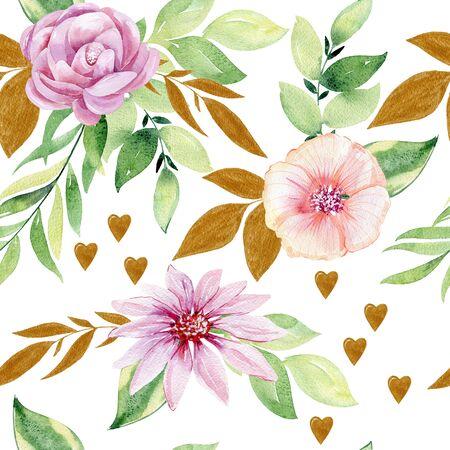 watercolor seamless pattern Фото со стока