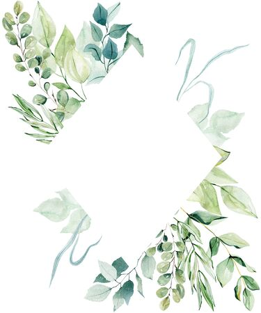 Frame with leaves Фото со стока