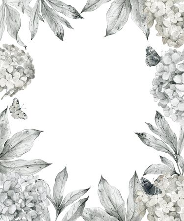 Frame with flowers. Фото со стока