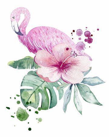 Tropical watercolor illustration