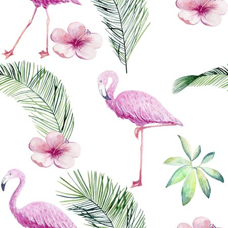 Tropical illustration design pattern