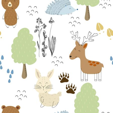 Vector forest pattern.