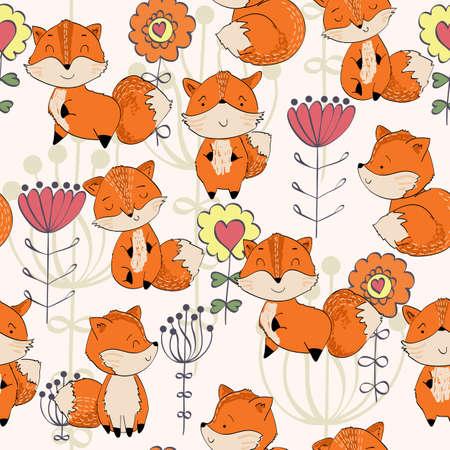 Cute cartoon Fox Reklamní fotografie - 154264060