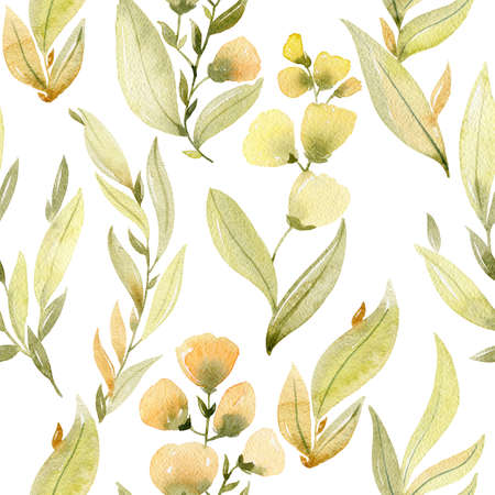 watercolor seamless pattern Stok Fotoğraf