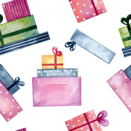 Christmas watercolor gifts