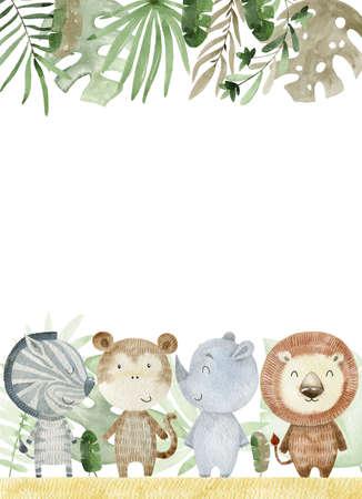 Watercolor safari card.
