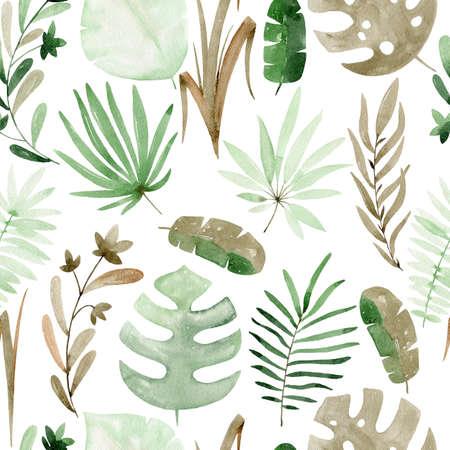 Tropical seamless pattern 写真素材