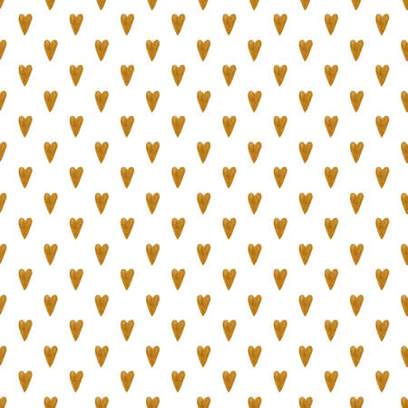 Seamless pattern with watercolor hearts. Foto de archivo