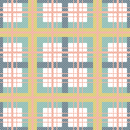 Scottish plaid seamless pattern. Green colors tartan vector tileable checkered background. Illustration