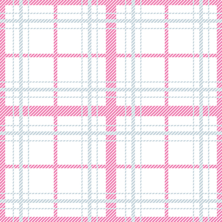 Seamless pattern with checkered tablecloth ornament. Pastel light lines colors tartan vector repeat background. Illustration