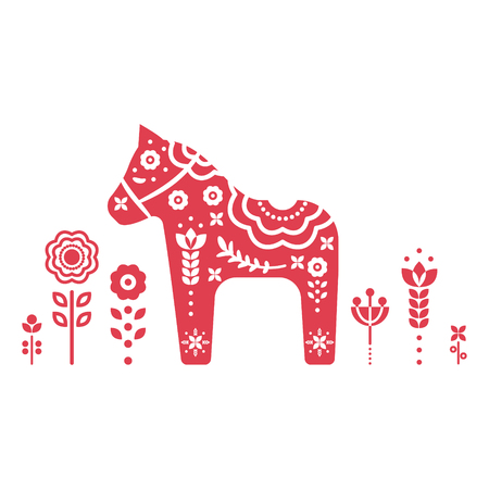Dala swedish horse vector illustration.