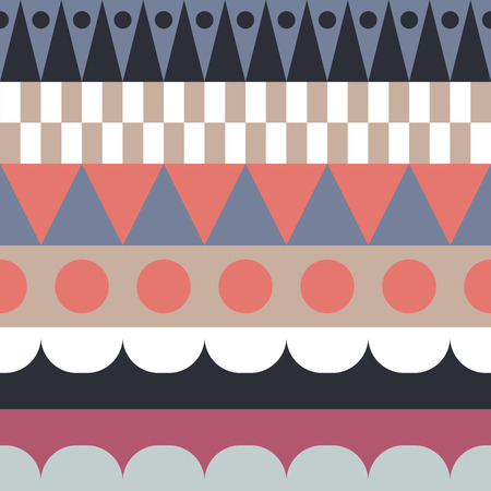 Color block rows seamless vector pattern.