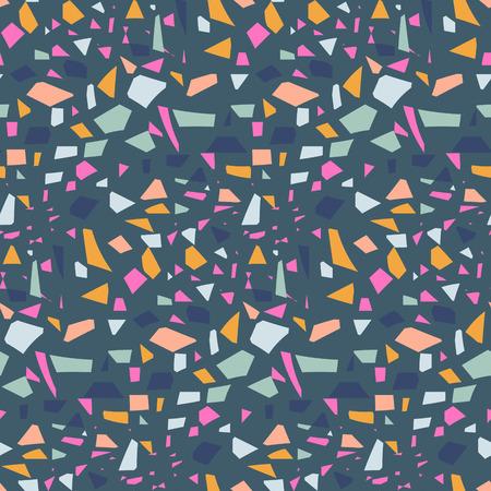 Terrazzo tile background vector pattern design.