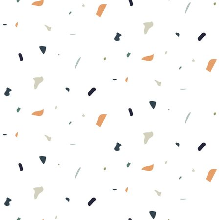 Seamless pattern hand drawn dot scratch particles texture vector. Terrazzo dust texture. Earthy colors abstract background.