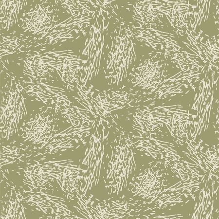 Scratched texture vector seamless pattern. Hand drawn texture. Camo khaki olive colors.