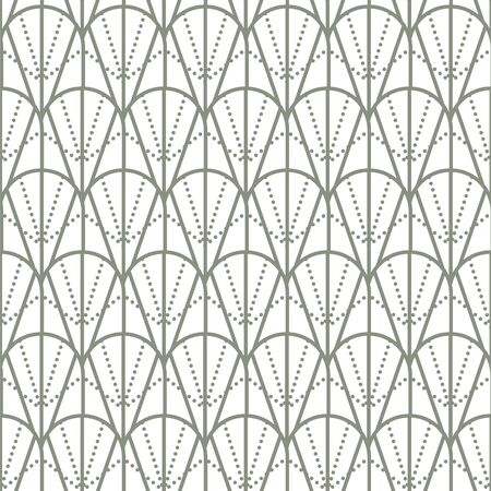 20s art deco vintage geometric seamless vector pattern. Geometry repeat texture gray and white shapes.