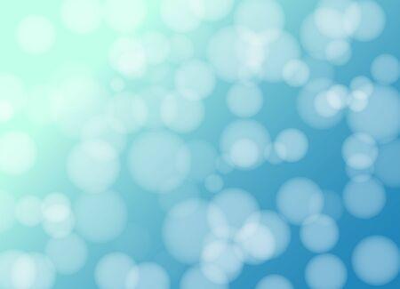 Bokeh blue vector gradient sky background. Blurred circles decorative light effect backdrop.