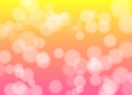 Bokeh vector gradient pink yellow background. Blurred circles decorative backdrop.