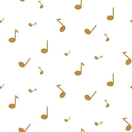 Music notes seamless vector pattern. Minimalist design texture print.