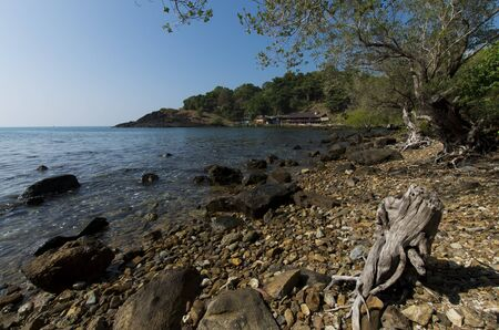 Rough coastline of Koh Chang in Thailand. Stock Photo