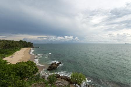 tropica: Sandy beach Stock Photo