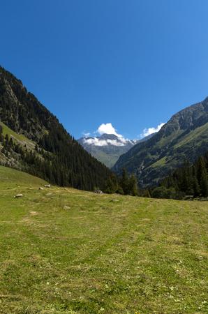 plateau: Alpine landscape Stock Photo